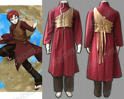 Naruto Gaara Shippuden 4th Cosplay Costume