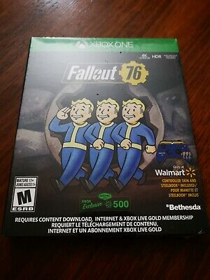 Fallout 76 xbox one game-standard edition steelbook cover + free controller skin