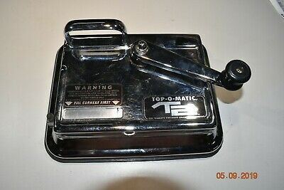 TOP-O-MATIC Red Cigarette Rolling Machine Very Good  Used Condition