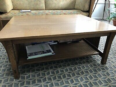 STICKLEY Mission Arts & Crafts Spindle Coffee / Cocktail Table