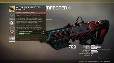 Destiny 2 Outbreak Perfected Catalyst + Ship Complete Quest (XB1 - PS4)