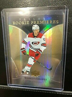 Warren Foegele 2018-19  UD Trilogy Rookie Premieres Level 1  #875/999