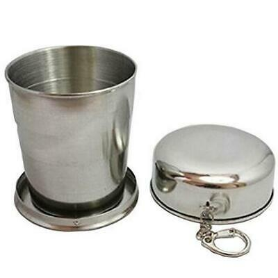 Steel Telescopic Collapsible Soft Drinking Cup Folding Cup Travel Mug LJ