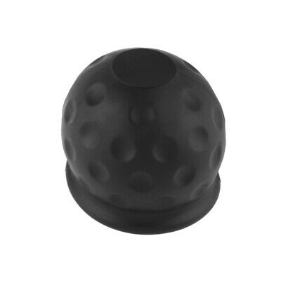 Rubber Tow Ball Bar Towing Protect Towbar Towball Cap Cover 50mm Black