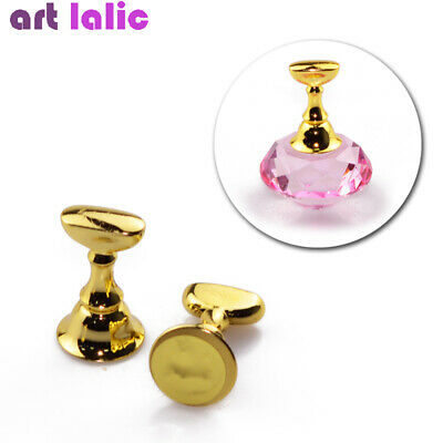 Replaceable Magnetic Nail Art Tip Armor Holder Practice Training Display Tool