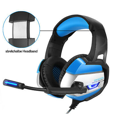 ONIKUMA K5 Stereo Gaming Headphone For PS4 PC Controller Over Ear With Mic