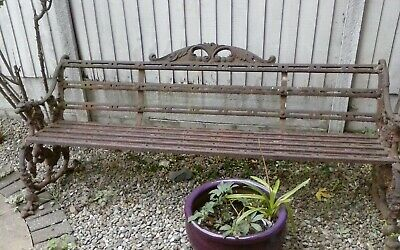 Antique Cast Iron Garden Bench