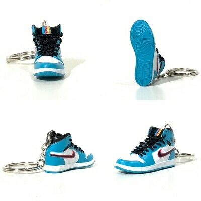 super popular fed13 e5aca madxo   3D mini sneaker keychain Air Jordan 1 SOUTH BEACH 1 6 Michael 05