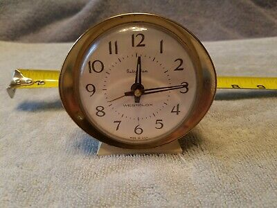 Vintage Baby Ben Westclox Mechanical Wind Up Alarm Clock Metal Case Made in USA