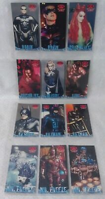1997 FLEER / SKYBOX Batman & Robin set 12 Chase Cards P1 - P12 & plastic sheets