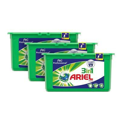 3x Ariel 3 In 1 Cloths Washing Machine 105 Wash Liquitabs Pods Capsules Tablets