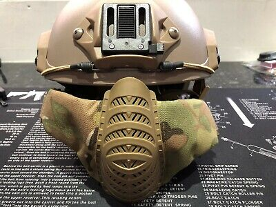 Crye multicam Airsoft Mask Mesh Half Face Mask opscore helmet ops core airframe