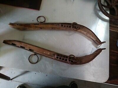 Antique Wood & Iron Harness Hame Yoke Mule Horse Collar 25""