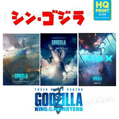 Godzilla King of the Monsters Print Posters MonsterVerse Movie 2019 A4 A3 A2 A1