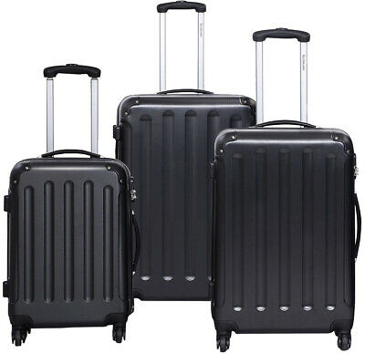GLOBALWAY 3 Pcs Luggage Trolley Case Set