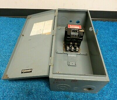 Square D 8903 SQ02 Lighting Contactor 3 Pole 100 Amp 120V Coil