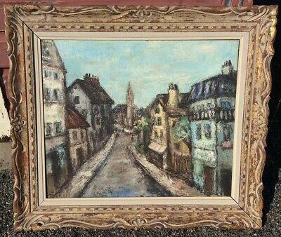 Vintage French Impressionist Oil Painting - Indistinctly signed ? Masson