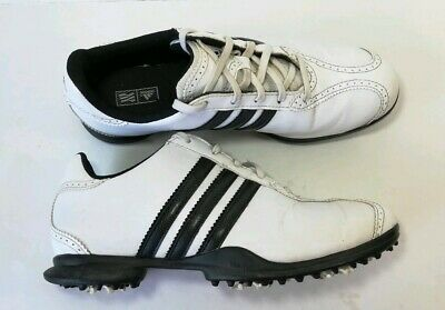 best sneakers d90c8 b9937 Adidas Golf Shoes Cleats 791003 Traxion White and Black Women s Size 7.5