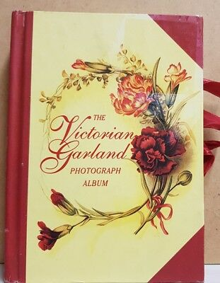 Victorian Garland Photograph Album Hardcover Floral Illustrations
