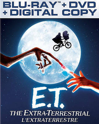 E.T. The Extra-Terrestrial (Bluray DVD 2012 2-Disc Canadian)  Free Ship Canada!