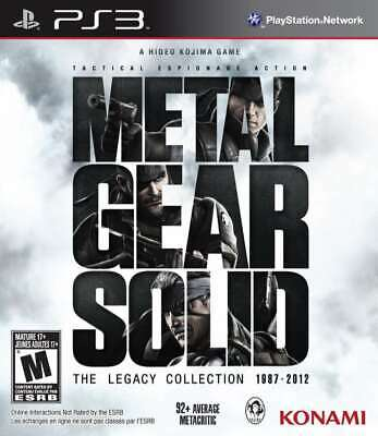Metal Gear Solid: The Legacy Collection  (Sony PlayStation 3 / PS3)   Brand New.