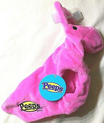 PEEPS Brand Soft Halloween Candy Pink Bunny Rabbit Dog Cat Pet Costume Med New