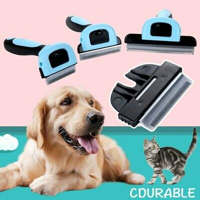 New Pet Cat Dog Hair Remover Deshedding Brush Comb Trimmer Grooming Rake Cleaner