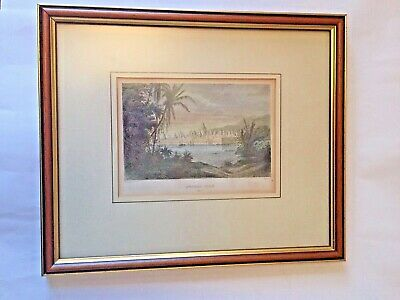 Philippoteaux antique framed engraving of Angkor Thom