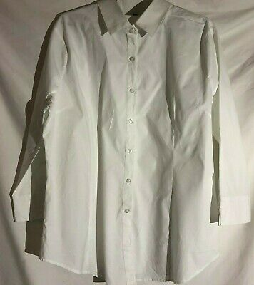 Active USA White Women's Cotton and Spandex Shirt Size US 3 XL 3/4 Sleeve