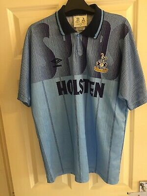 TOTTENHAM HOTSPUR umbro holsten blue shirt spurs 90s third Kit Retro Size Large