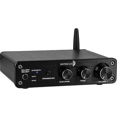 Dayton Audio DTA-2.1BT2 100W 2.1 Class D Bluetooth Amplifier with Sub...