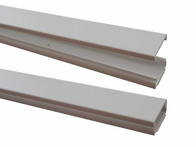 White 1m Cable Channel 31, 8x11mm Self Adhesive (Connector Available)