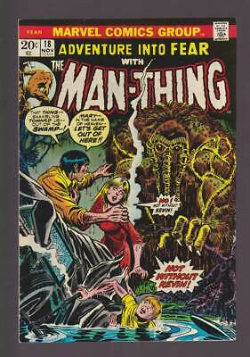 Fear # 18  The Man-Thing : Let's Get Out of Here !  grade 9.0 scarce book !
