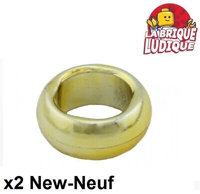 2 x LEGO 98341 Anneau Avec Lame or, gold Ring With Hole and Blade NEUF NEW