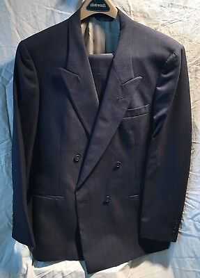Pierre Cardin Double Breasted Suit, Navy w Pinstipes, Worn Once, Mint Condition!