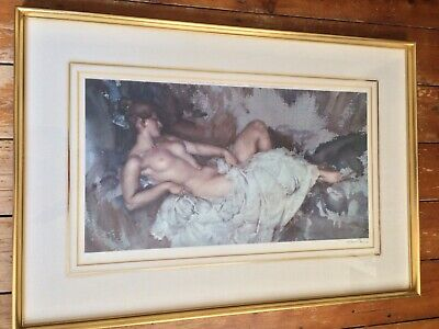 RARE 1963 FROST & REED Wm. RUSSELL FLINT SIGNED LTD EDITION PRINT RECLINING NUDE