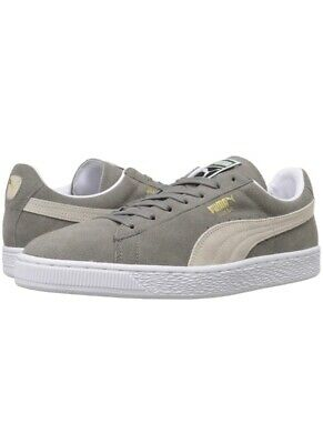PUMA Select Men/'s Suede Classic Plus Sneakers 9.5 Steeple Gray//White