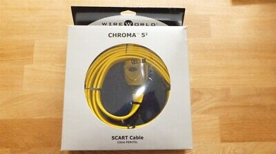 WireWorld Chroma 5 SCART Analogue Video Cable 5.0m (Save 50% on RRP)