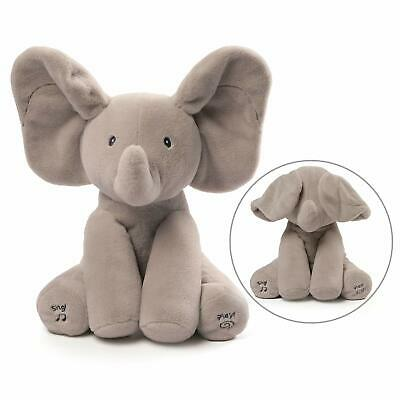 The Elephant is Animated with Singing and Playing Gund Peek-A-Boo with Baby