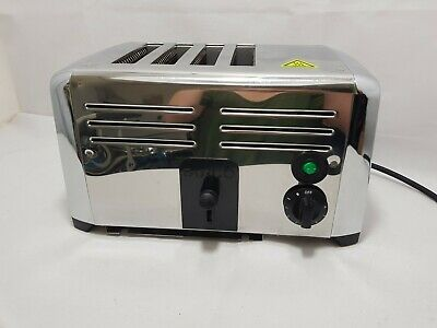 Burco 4 Slice Commercial Toaster Stainless Steel missing crumb tray