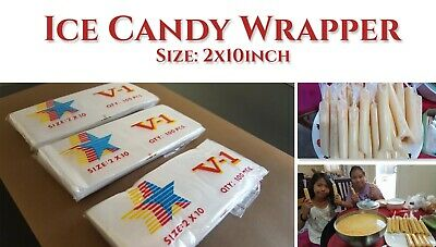 300 pcs - 2x10inch Ice Candy Wrapper