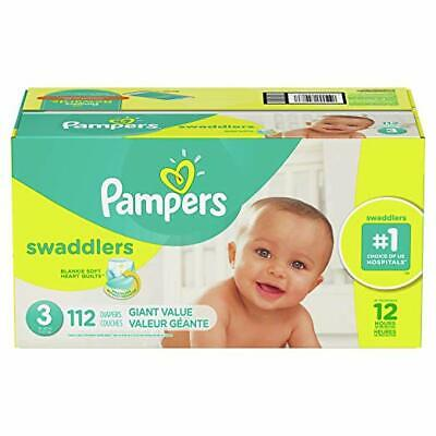 Pampers Swaddlers Disposable Baby Diapers, Size 3, 112 Count