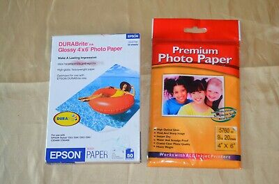 2 Packs of 4x6 Photo Paper Total of 70 Sheets