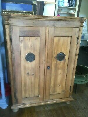 Beautiful Antique Solid Pine Mid-Late 19th Century Pantry / Larder Cupboard