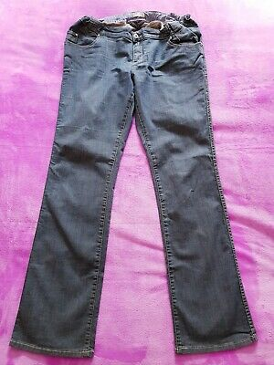 Prenatal maternity Size 14 jeans trousers with adjustable waist - Blue