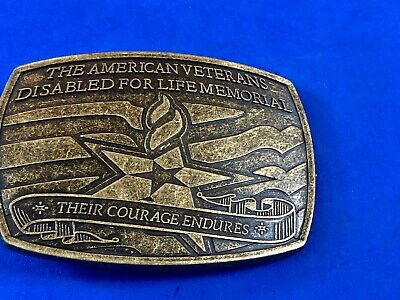 THE AMERICAN VETERANS DISABLED FOR LIFE MEMORIAL Belt Buckle
