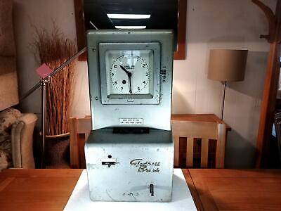 Rare Metallic Fibre Glass 1960 Gledhill Brook Fusee Clocking In Clock Recorder