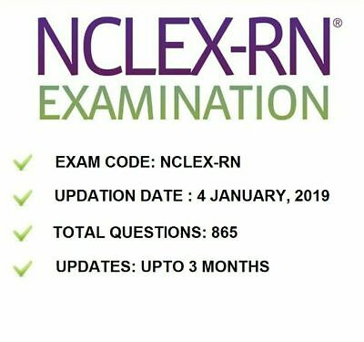 🔥 Rn Actual Exam Test Bank Of Real Questions & Answers Nclex 2019 🔥Pdf Only🔥
