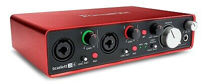 Focusrite Scarlett 2i4 (2nd Gen) USB Audio Interface with Pro Tools - First