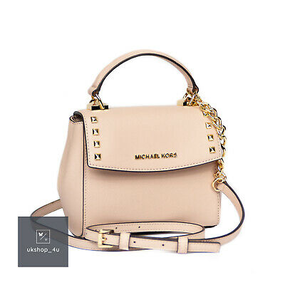e0ceb7ccfcee Michael Kors Karla Mini Convertible Pink Leather Satchel Cross Body Bag BNWT